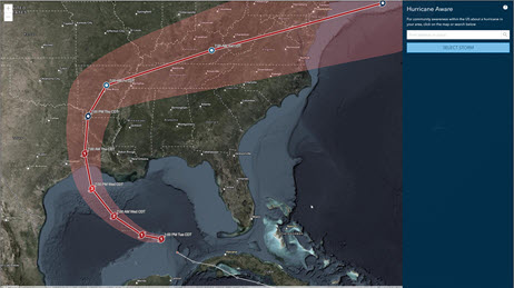 Hurricane Aware overview map