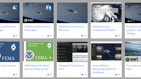 Public app gallery for hurricane response