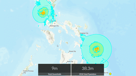 Local impact summary map for the earthquake in Philippines, April 22, 2019