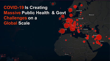 """COVID-19 is Creating Massive Public Health & Govt Challenges on a Global Scale"""