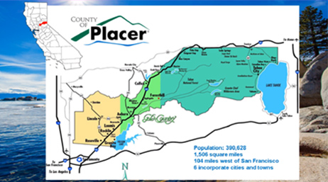 County of Placer map