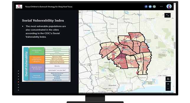map with social vulnerability index