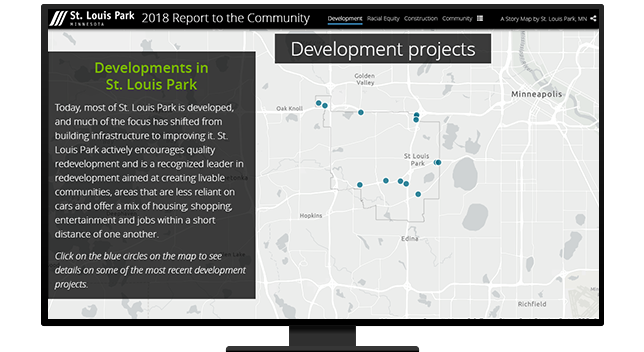 Development projects map