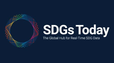 "Colorful icon next to the text, ""SDGs Today: The Global Hub for Real-Time SDG Data"""