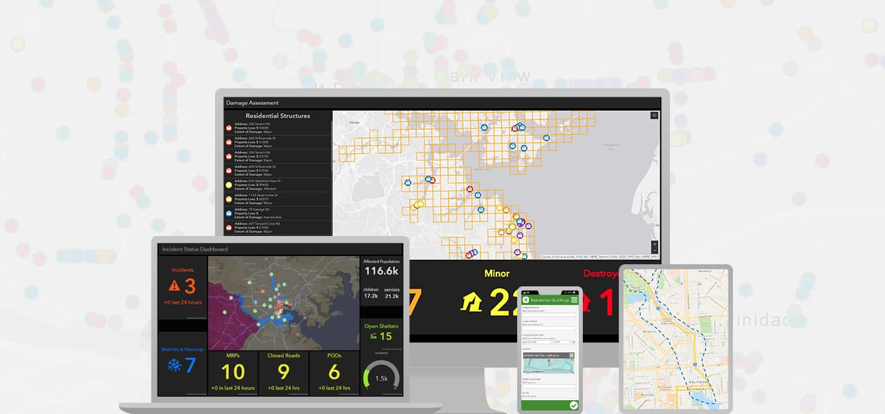 Esri's emergency management operations solution can be used on a variety of devices for shared situational awareness