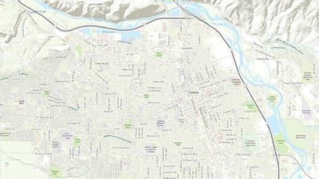 Portland Bike Map Maps We Love Esri - Portland-on-us-map