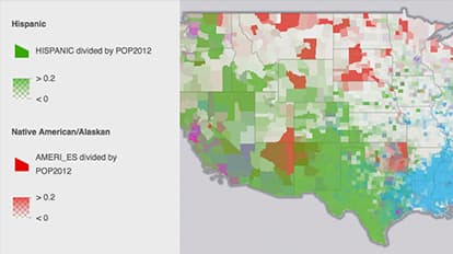 Us Minority Populations Maps We Love Esri - Population-us-map