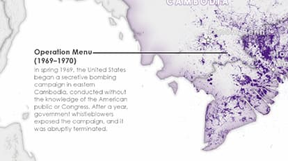 Bombing Missions of the Vietnam War | Maps We Love - Esri