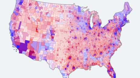 A Dot For Every Vote Map Maps We Loveesri - Us-map-popular-vote-2016