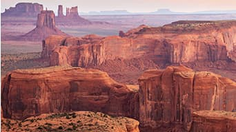 Red, clay canyons in the Navajo Nation