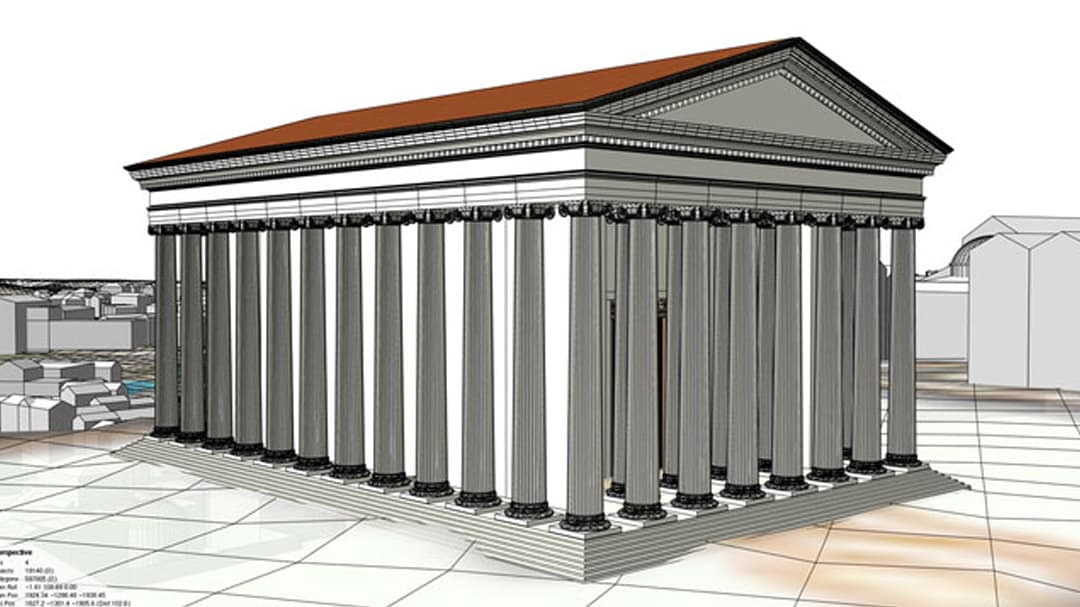 Illustration of ancient Roman temple