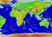 World Topography and Bathymetry
