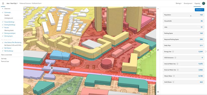 Housing capacity analysis created in ArcGIS Urban