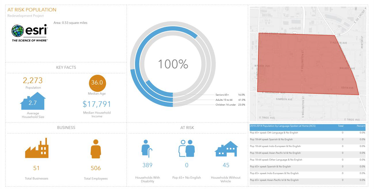 Using demographic data with Community Analyst to understand at risk populations