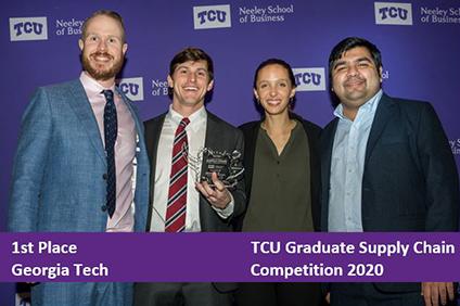 Winners of TCU 2020 Supply Chain Comp
