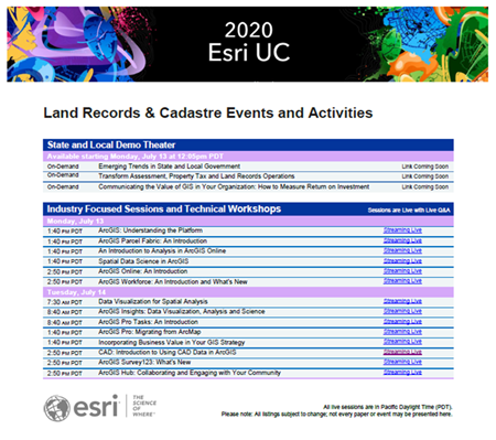 Land Records UC Events and Activities Guide