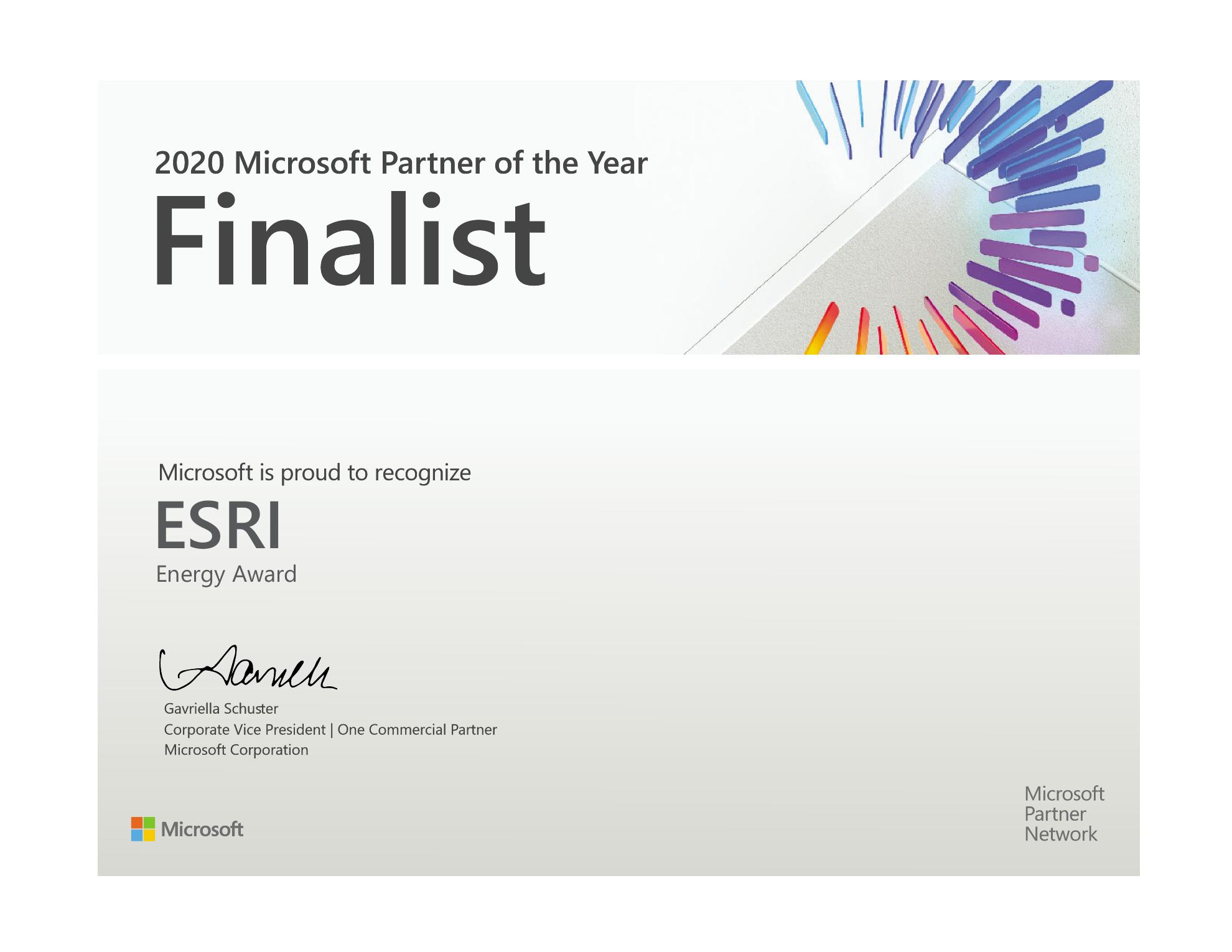 Esri Award Finalist