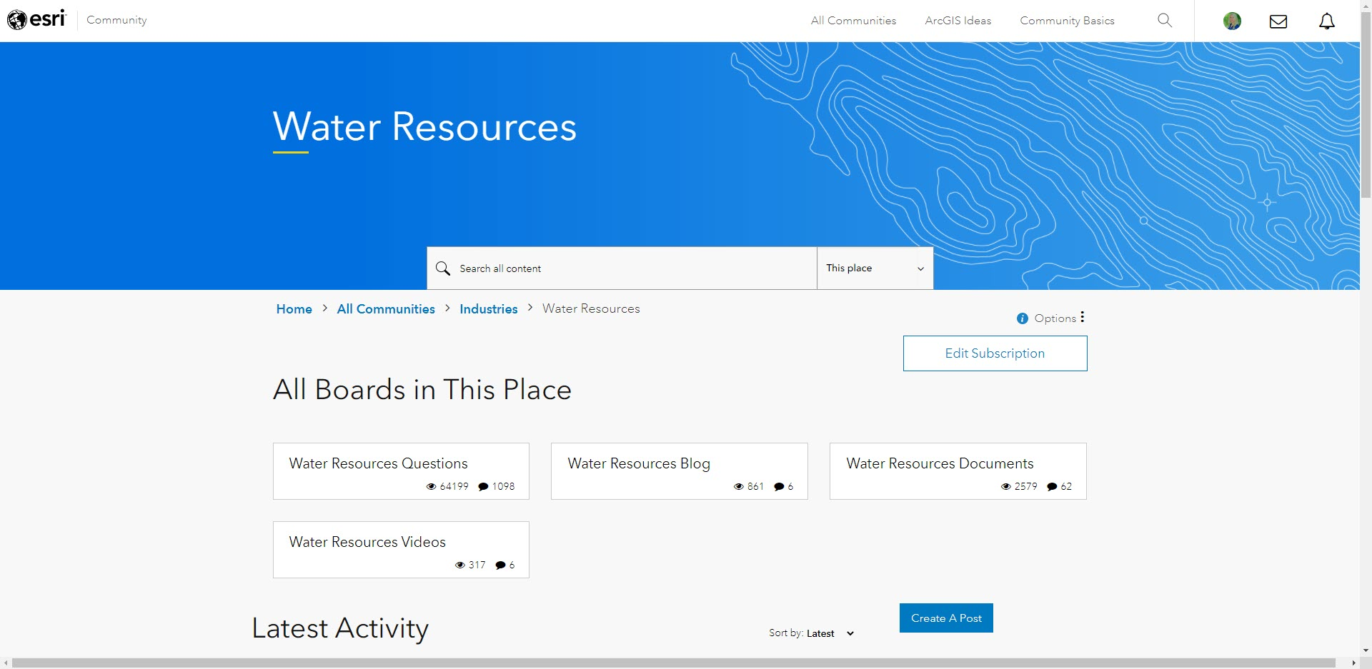 Water Resources Community