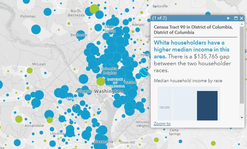 Map shows income disparities by race