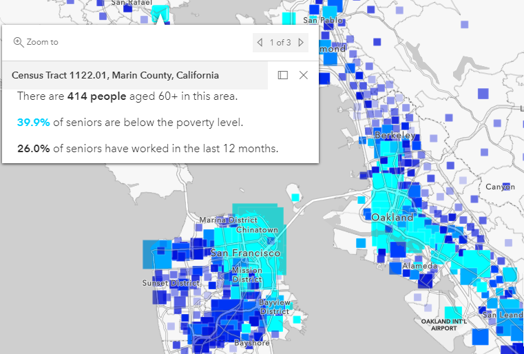 Map of seniors living below the poverty line in the U.S.