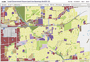 Organizations can use configurable maps and applications, such as this Local Government Future Land Use Basemap, to make their own data more useful and accessible with any programming.