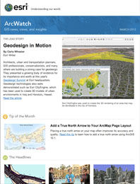 read the ArcWatch March 2013 issue