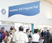 At the Academic GIS Program Fair