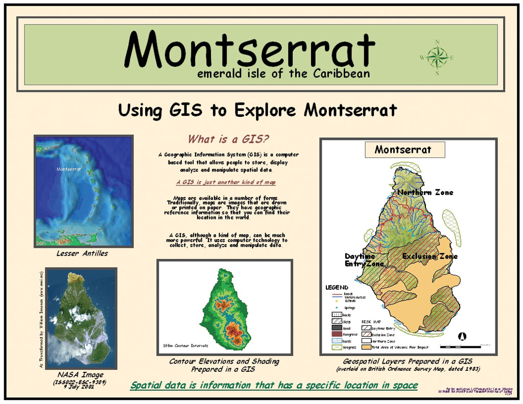 ArcNews Fall 2003 Issue -- Exploring Montserrat, British ... on in texas map, in asia map, in mexico map, in sweden map, in france map, in georgia map, in germany map, in china map, in usa map, in latin america map,