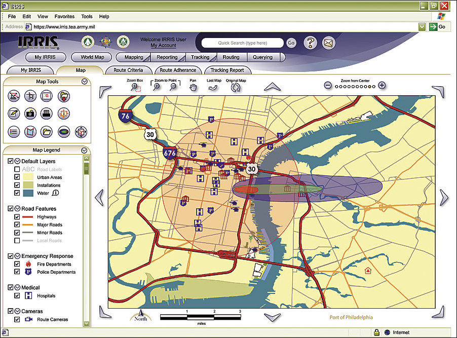 Arcnews Fall 2005 Issue Us Military Uses Gis For Transportation - Us-military-world-map
