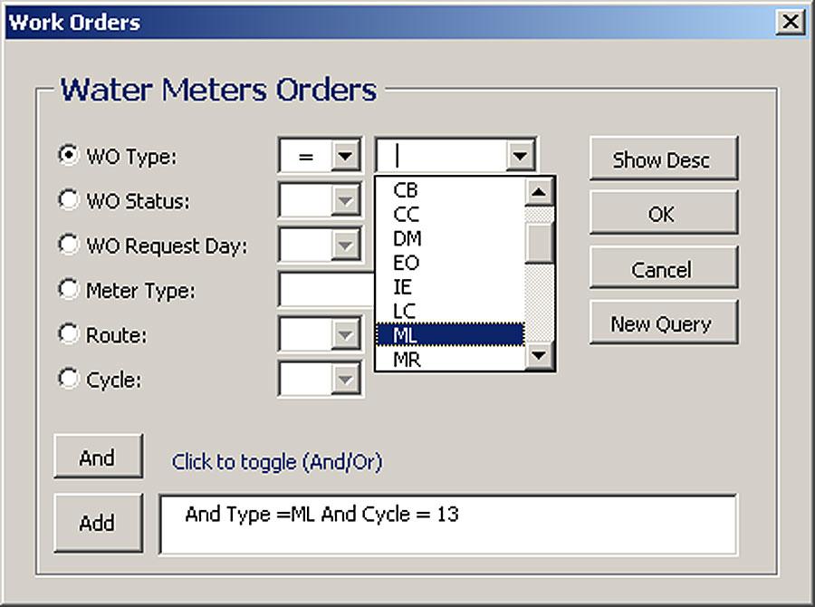 work order database