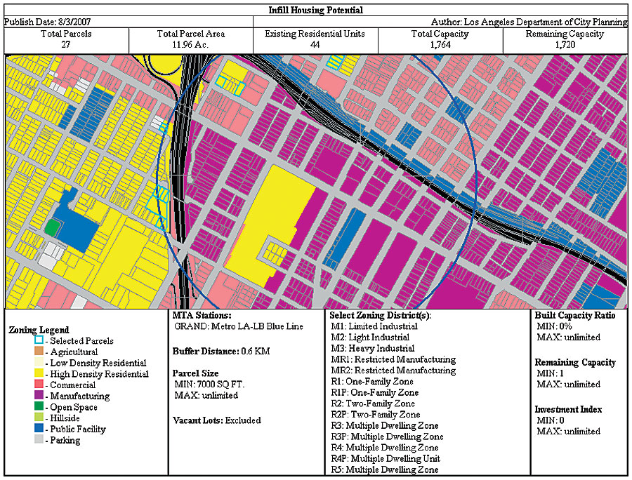Los Angeles Zoning Map Los Angeles, California, Department of City Planning Mapping System Los Angeles Zoning Map
