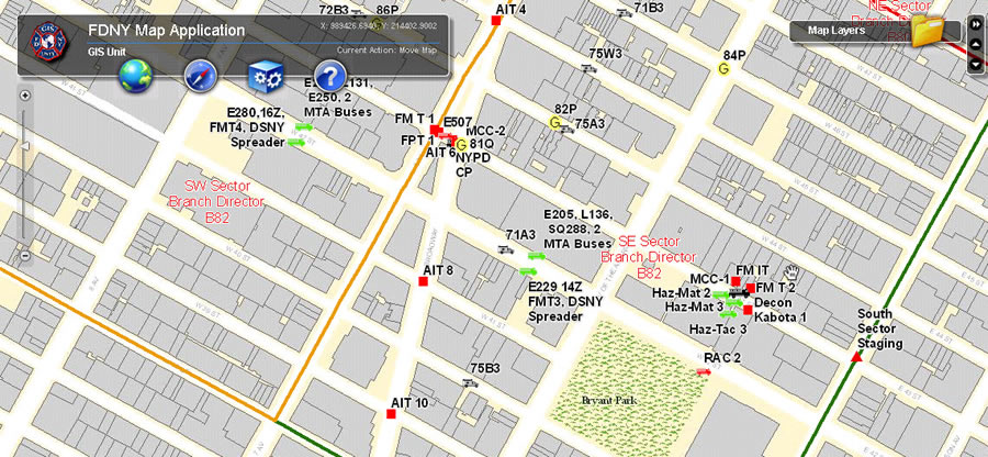 Nyc Map Gis.High Tech Web Mapping Helps City Of New York S Fire Department