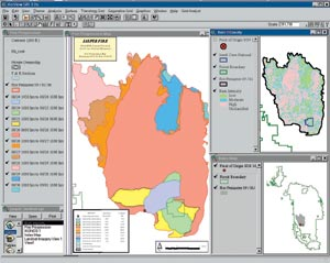 Hills Fire Map.Esri News Spring 2001 Arcnews Analyzing The Jasper Fire In The