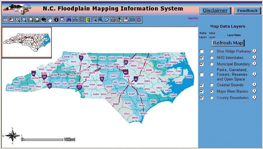 North Carolina Floodplain Mapping Esri News    ArcNews Spring 2002 Issue    North Carolina Flood