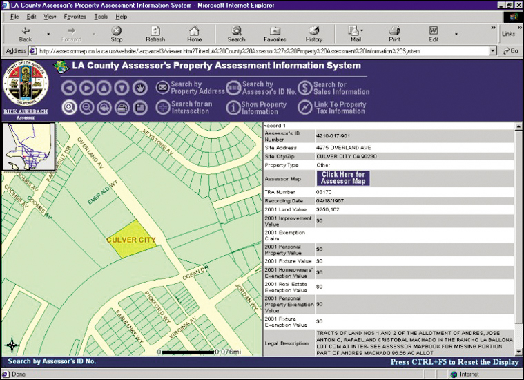 Esri News Arcnews Spring 2002 Issue Webbased Property: Los Angeles County Assessor Parcel Map At Infoasik.co