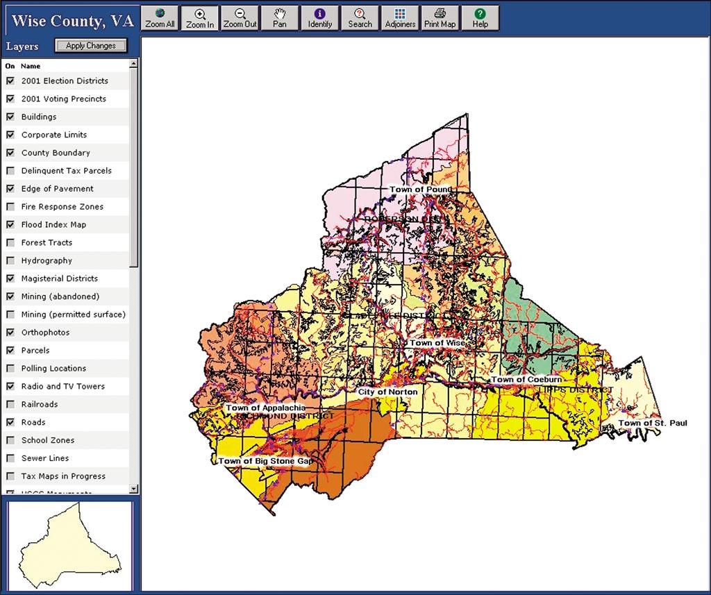 Esri News Arcnews Spring 2002 Issue Wise County Virginia