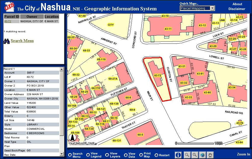 Esri News ArcNews Spring 2003 Issue Parcel Mapping in Nashua