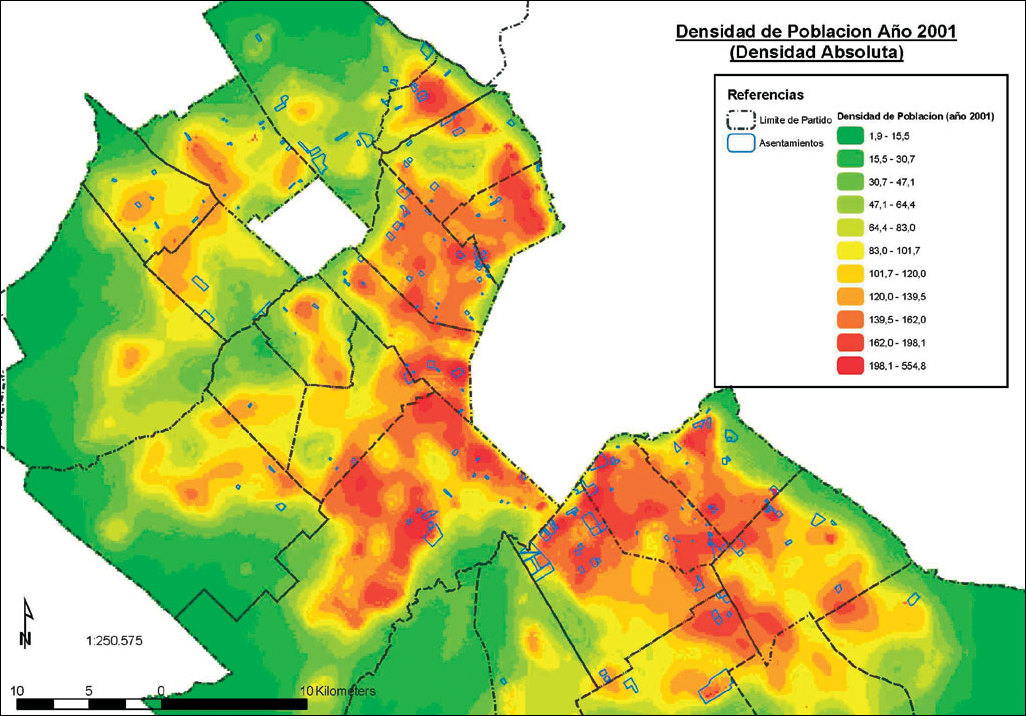 ArcNews Spring Issue In The Province Of Buenos Aires - Argentina density map