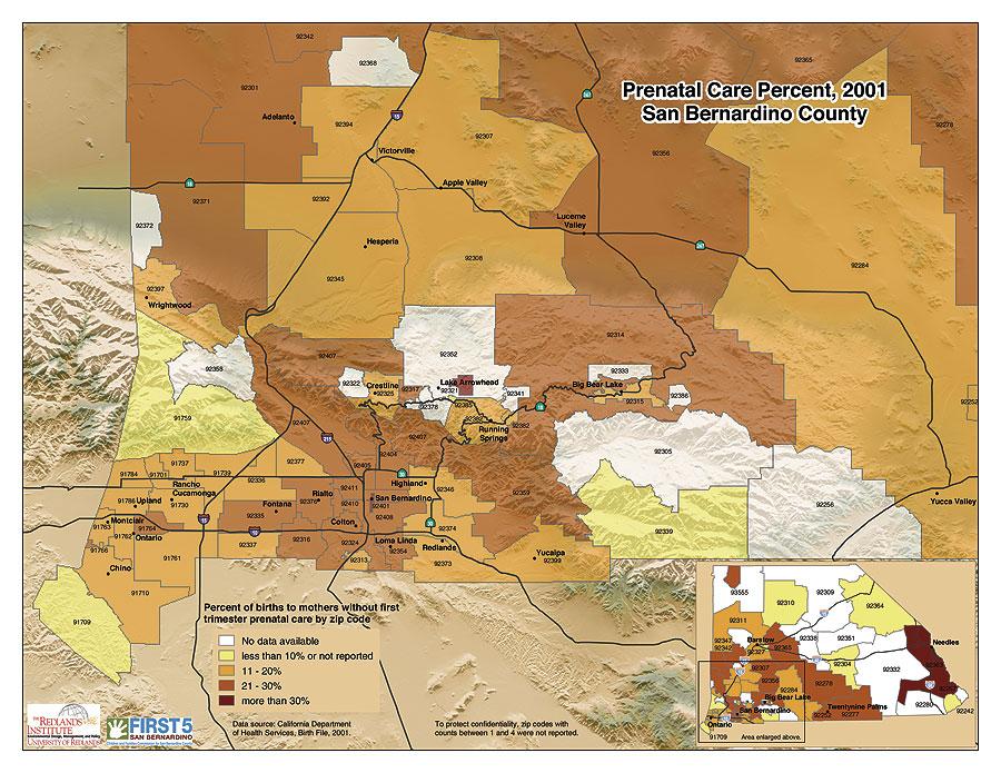 Redlands Zip Code Map.Arcnews Spring 2005 Issue San Bernardino County California