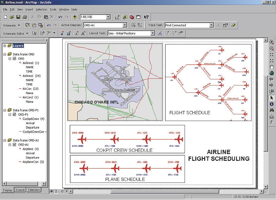 ArcNews Spring 2005 Issue -- ArcGIS 9.1 Schematics Features ...