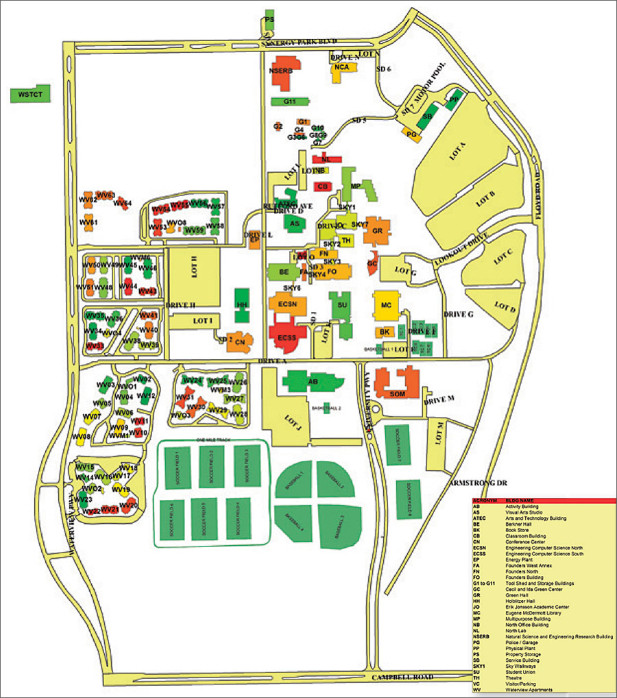 university of dallas map University Enhances Its Logistical Tracking System With Gis university of dallas map