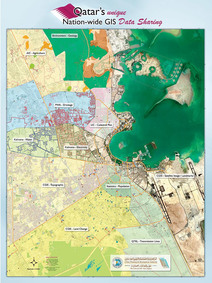 Qatar\'s GIS Turns Twenty - ArcNews Spring 2009 Issue