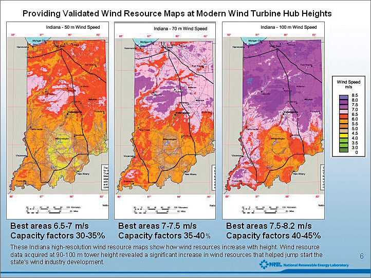 US DOEs Renewable Energy Lab Maps Wind Resources With GIS - Wind map of the us