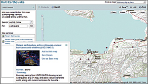 example of recent Haiti Earthquake interactive Web map shared via ArcGIS Online