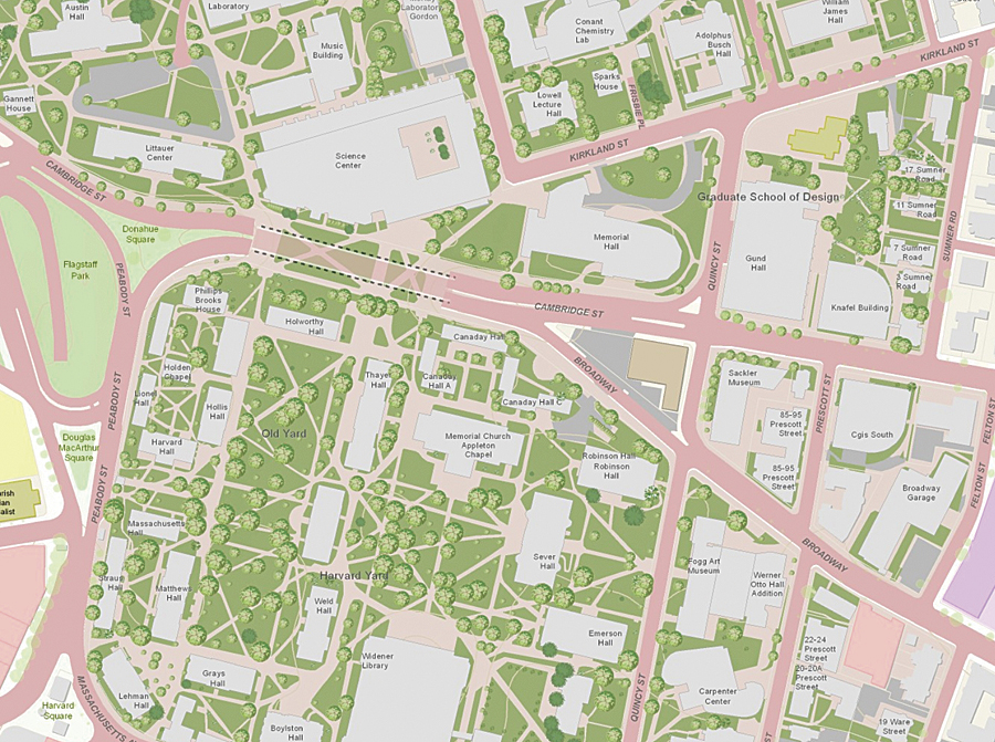 Colleges And Universities Participate In Community Maps Program - Map of harvard university