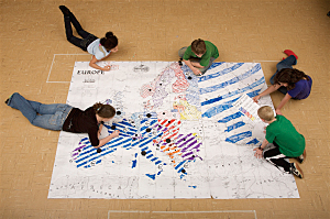 photo of students using MapMaker Kits