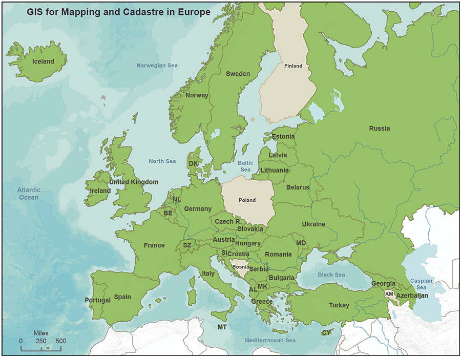 europe with national boundaries map European Cadastres and National Mapping Agencies | ArcNews Online