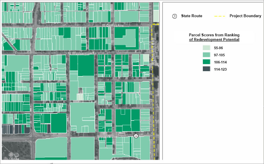 South Bend Indiana Uses GIS For Brownfields Inventory ArcNews - South bend map