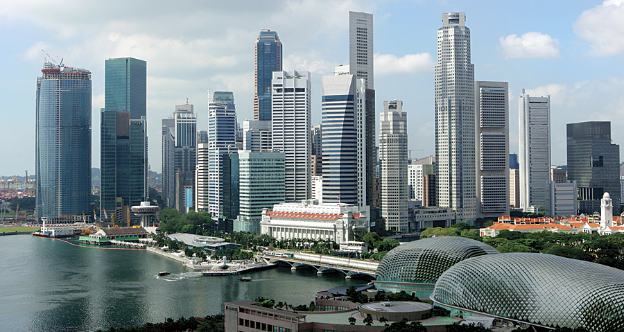 Singapores sustainable development of jurong lake district arcnews skyline of singapores business district malvernweather Choice Image