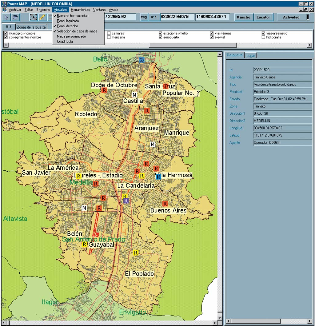 Esri News ArcNews Summer 2002 Issue City of Medelln Colombia